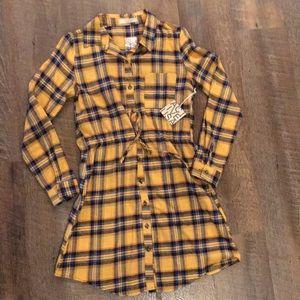 Active USA Plaid Flannel Shirtdress